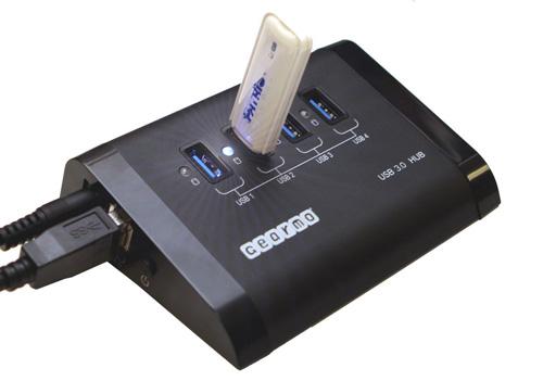 USB 3.0 4-Port Hub with USB Key