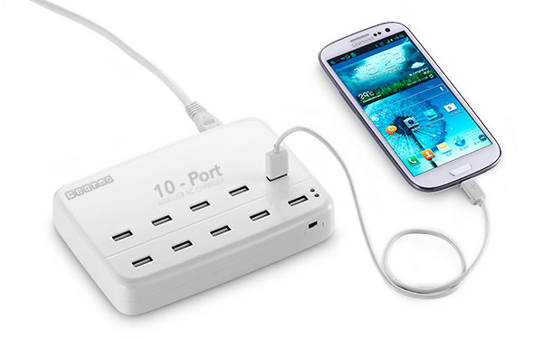 10 Port USB Charger Station - 60 Watt AC