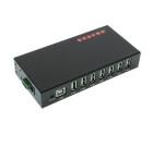 7 Port Rugged USB 2.0 Metal DIN Rail Mount Hub