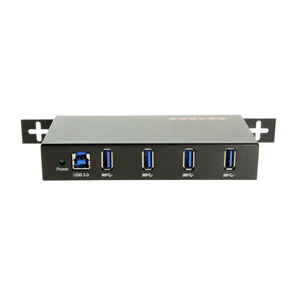 USB 3.0 4 Port Rugged Industrial Din Rail Mount Hub w ...