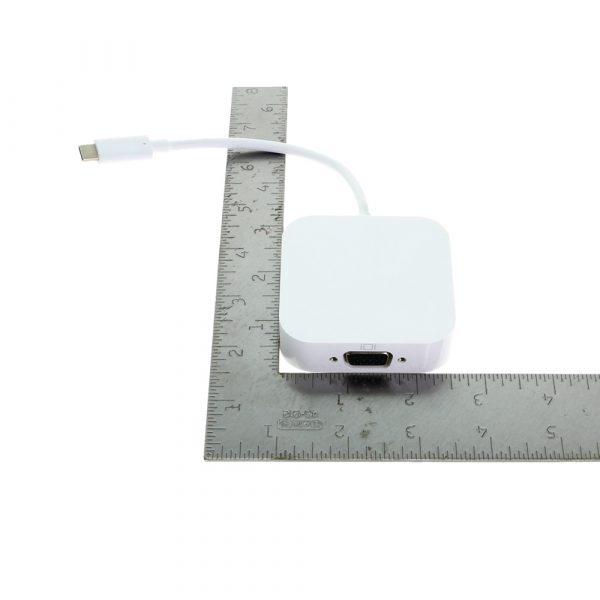 USB C to VGA multi-port adapter size