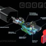 45W USB C car charger diagram