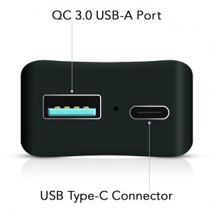 USB Power Deliver Type-C Port and Legacy USB-A Port