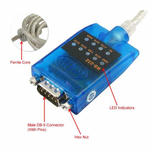 USB 2.0 to Serial Adapter digram